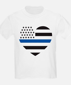 Blue Lives Matter Heart T-Shirt
