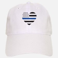 Blue Lives Matter Heart Baseball Baseball Cap