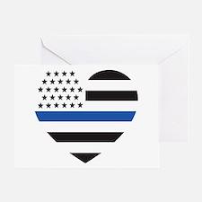 Blue Lives Matter Heart Greeting Card