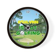 Ashlynn is Out Golfing - Wall Clock