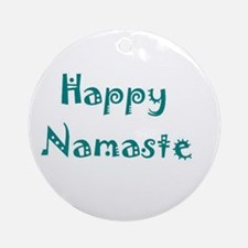 Happy Namate Teal Ornament (Round)