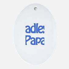 Bradley's Papa Oval Ornament