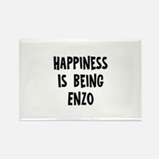 Happiness is being Enzo Rectangle Magnet