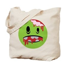 unhappy undead zombie smiley Tote Bag