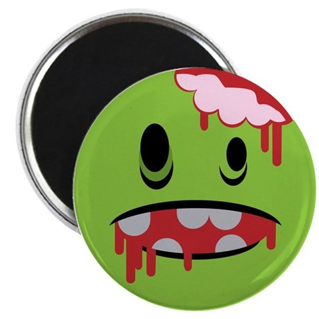 unhappy undead zombie smiley Magnet