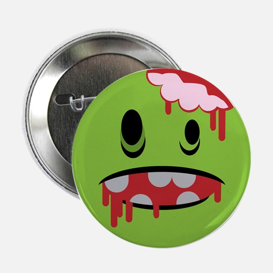 "unhappy undead zombie smiley 2.25"" Button"