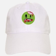 unhappy undead zombie smiley Baseball Baseball Cap