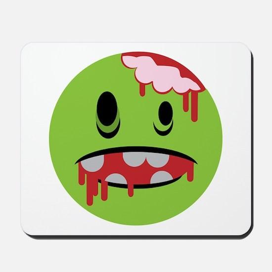 unhappy undead zombie smiley Mousepad