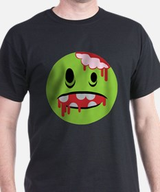 unhappy undead zombie smiley T-Shirt