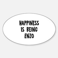 Happiness is being Enzo Oval Decal