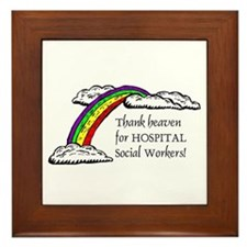 Thank Heaven Hospital Framed Tile