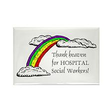 Thank Heaven Hospital Rectangle Magnet