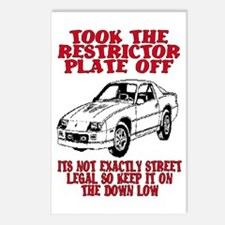 RESTRICTOR PLATE OFF.. Postcards (Package of 8)
