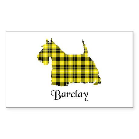 Terrier - Barclay dress Sticker (Rectangle)