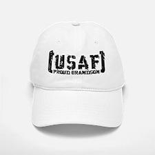 Proud USAF Grndson - Tatterd Style Baseball Baseball Cap