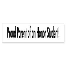 """Honor Student"" Bumper Bumper Sticker"