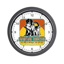 Animal Rescue Dog and Cat Wall Clock