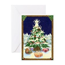 Cute Celtic christmas tree Greeting Card