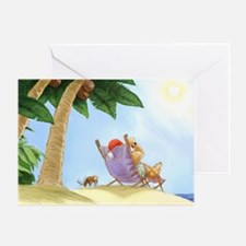 SunBathingSanta Greeting Cards