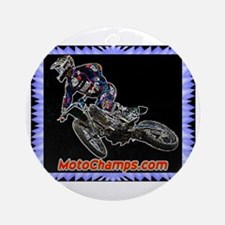 """MotoChamps.com"" Ornament (Round)"