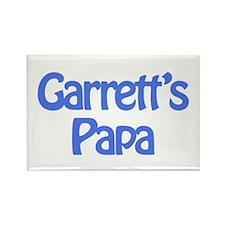 Garrett's Papa Rectangle Magnet