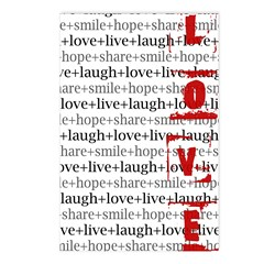 LOVE Inspirational Collage (red) Postcards (8-pk)