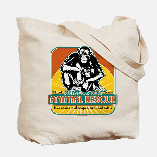 Animal Rescue Chimpanzee Tote Bag