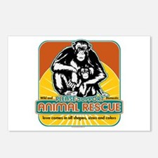 Animal Rescue Chimpanzee Postcards (Package of 8)
