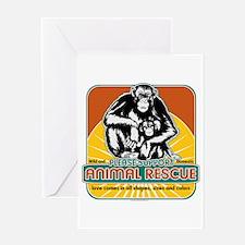 Animal Rescue Chimpanzee Greeting Card