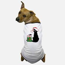 Santa Cat & Mouse Dog T-Shirt