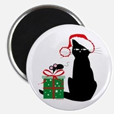Santa Cat & Mouse Magnet