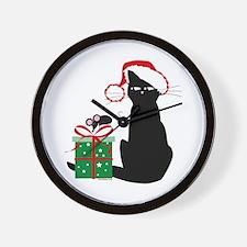 Santa Cat & Mouse Wall Clock