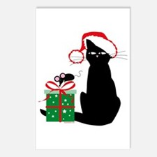 Santa Cat & Mouse Postcards (Package of 8)