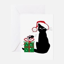 Santa Cat & Mouse Greeting Card