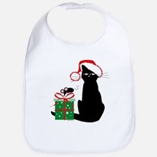 Santa Cat & Mouse Bib