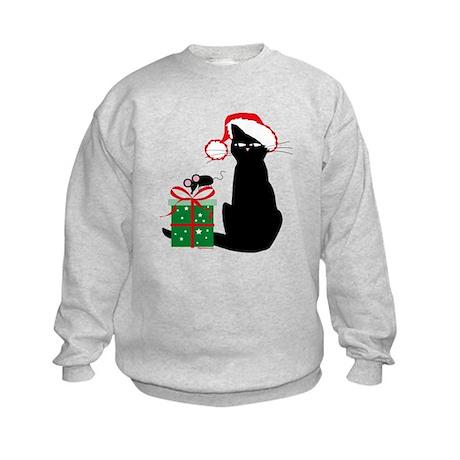 Santa Cat & Mouse Kids Sweatshirt