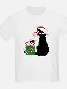 Santa Cat & Mouse T-Shirt