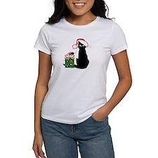 Santa Cat & Mouse Tee