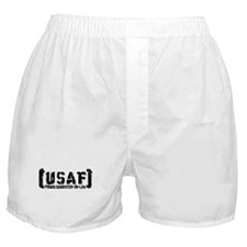 Proud USAF DhtrNlaw - Tatterd Style Boxer Shorts