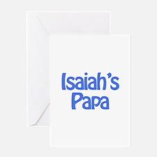 Isaiah's Papa Greeting Card