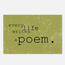 Every Life Writes a Poem Postcards (Package of 8)