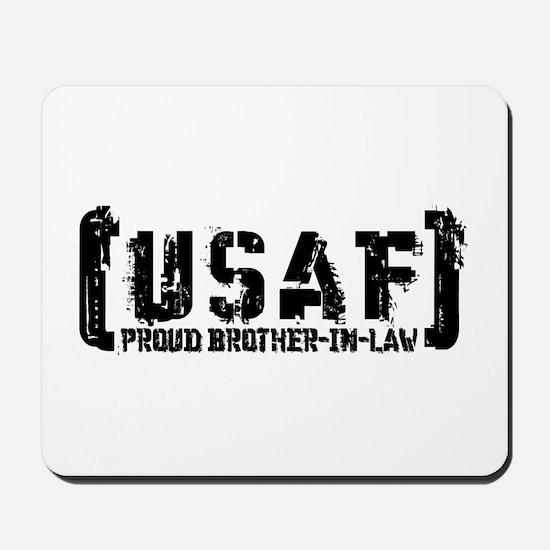 Proud USAF BroNlaw - Tatterd Style Mousepad