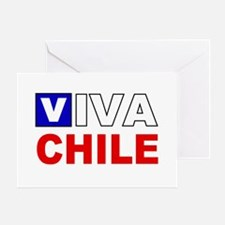 Viva Chile flag Greeting Card