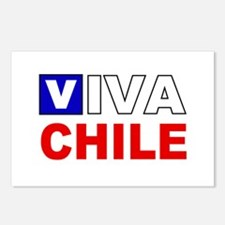 Viva Chile flag Postcards (Package of 8)