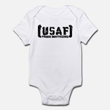 Proud USAF BF - Tatterd Style Infant Bodysuit
