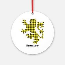 Lion - Barclay dress Round Ornament