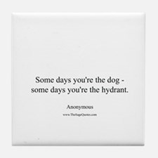 Dogs and Hydrants Tile Coaster