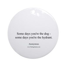 Dogs and Hydrants Ornament (Round)