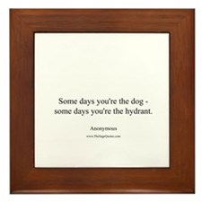 Dogs and Hydrants Framed Tile