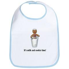 It's Milk and Cookie Time Gingerbreadman Bib